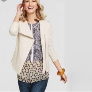 CAbi Rosewater & White Ladylike Top Style# 938 L